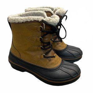 CROCS Women's AllCast II Boot W-K Snow Brown/Black - Pre-Owned
